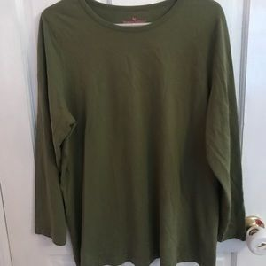 Woman within army green shirt plus size